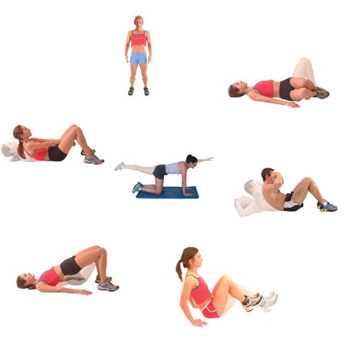 Упражнения за корем в домашния условия